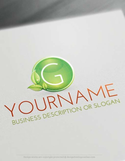 Design Green globe Logo with our Online Free Logo Maker