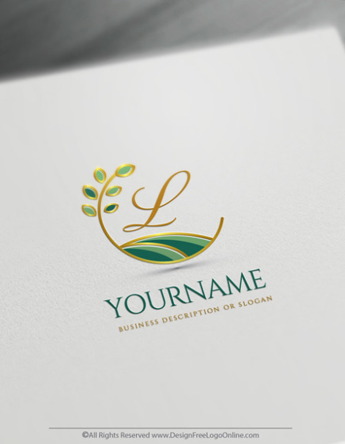 Golden Gardening Landscaping Logo Maker