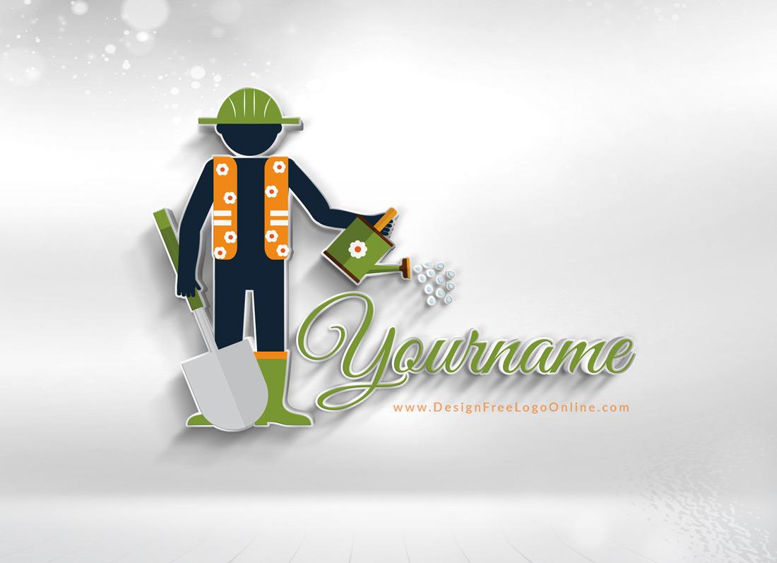 Create Your Landscape Gardener Logo Using Our Free Logo Maker