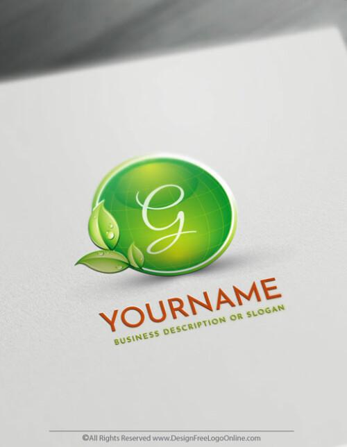 Online Free Logo Maker - Eco Green Globe Logo Design