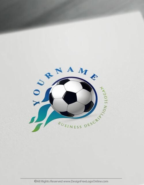 Blue Soccer logo maker branding