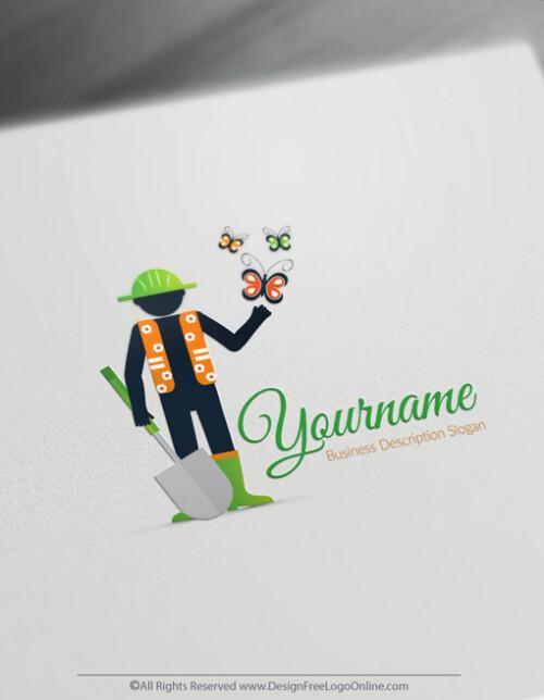 Butterfly Gardening Logo Maker