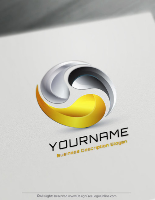Create a logo Free with the Gold Synergy Logo Maker.