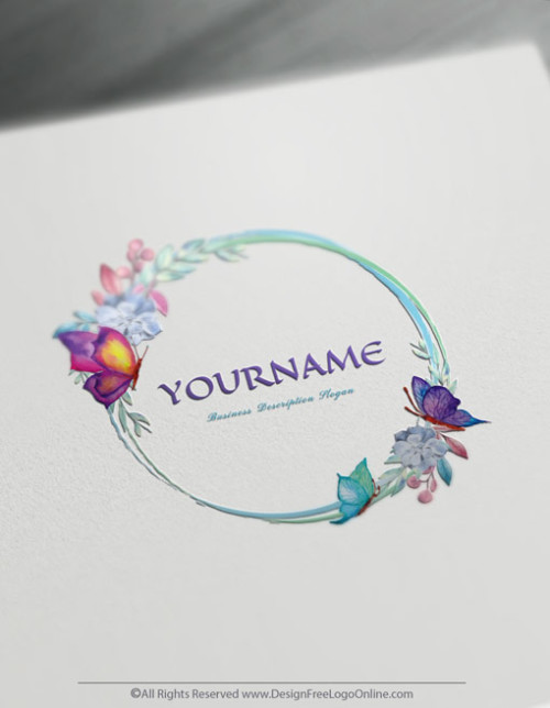 DesignFreeLogoOnline made watercolor logo designing quick. Create your own Butterflies Logo Ideas instantly. Try the free logo maker today.