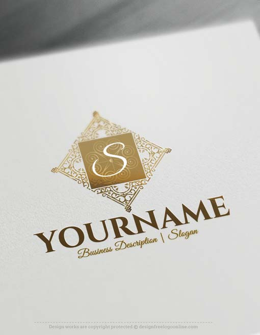 Online free logo maker elegant frame logo design for Online designs