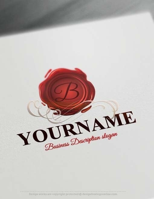 Free logo maker Wax seal Logo design
