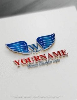 Create wings Logo design with our Free Logo Maker. United States Wings logo great for branding logo in USA.