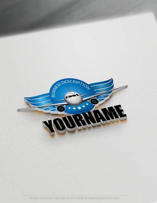 Free Logo Maker Aircraft Logo Design
