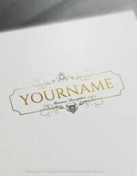 Create Diamonds Frame Logo design Online with our Free Logo Maker