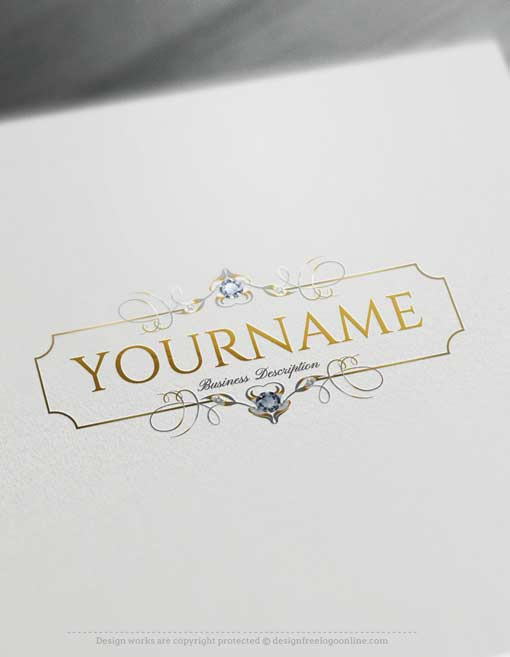 Create Diamonds Frame Logo design Online with our Free Logo Maker