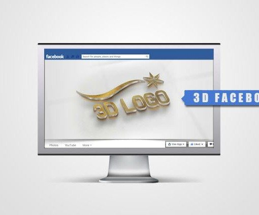facebook Free 3d logo design
