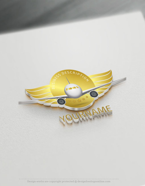 Aircraft Logo - Design Your Own Flight Logos with Free Travel Logo Maker