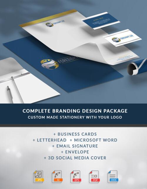 Custom Made Branding Design Package - Business Cards, Letterhead