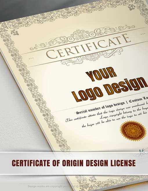 Certificate-of-origin-design-license
