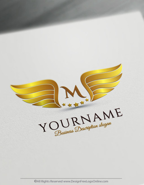 Create Gold wings Logo design with our Free Logo Maker.