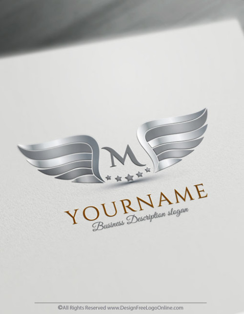 Create silver wings Logo design with our Free Logo Maker.