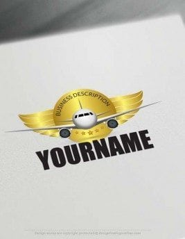 Aircraft Logo design - Create a Logo Online with our Free Logo Maker