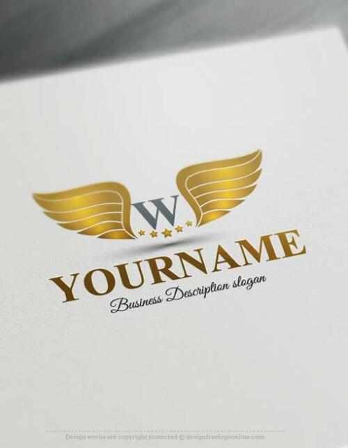 Free-logo-maker-Wings-Logo-Templates