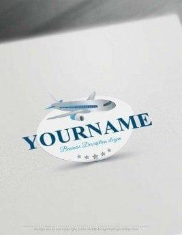 Airplane Logo design - Create a Logo Online with our Free Logo Maker