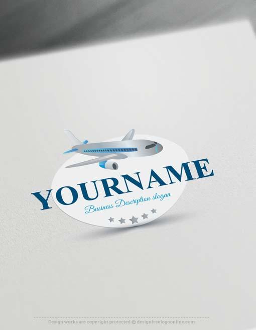 Free logo maker airplane logo design for Design a plane online