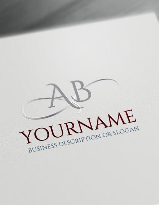Letters Logo Maker online Initials ABC Logo Templates