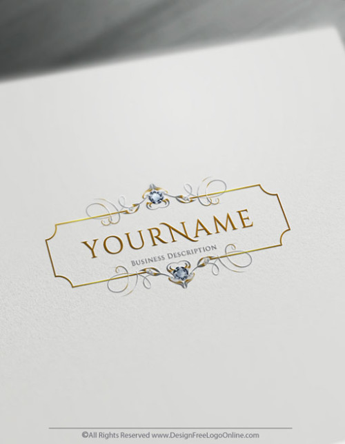 Free Gold Luxury Logo Maker - Online Diamonds Logo Design