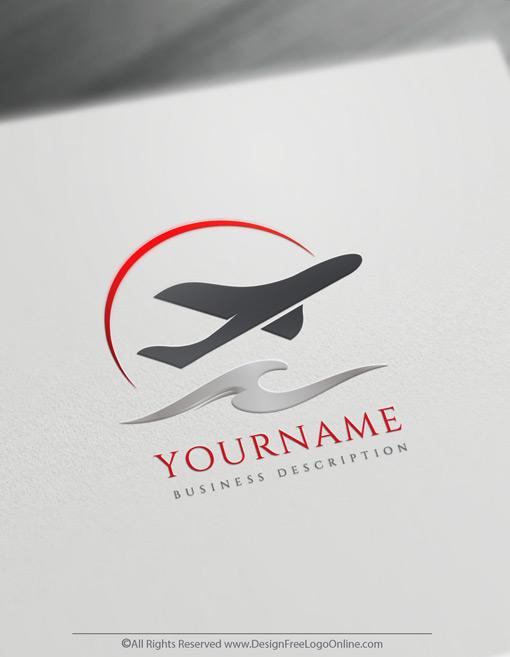 Modern Travel Airplane Logo Design Logo Maker