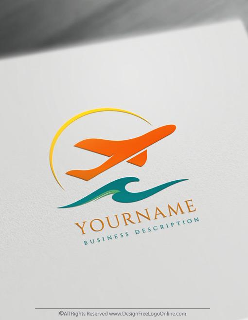 Aircraft Travel Logo Maker