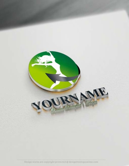 Create Sports fitness Logo design - Create a Logo Online with our Free Logo Maker