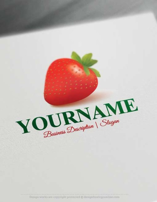 Free Logo Maker Strawberry Logo design