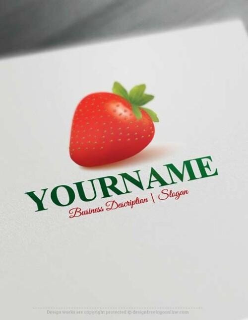 Free Logo Maker Strawberry Logo design