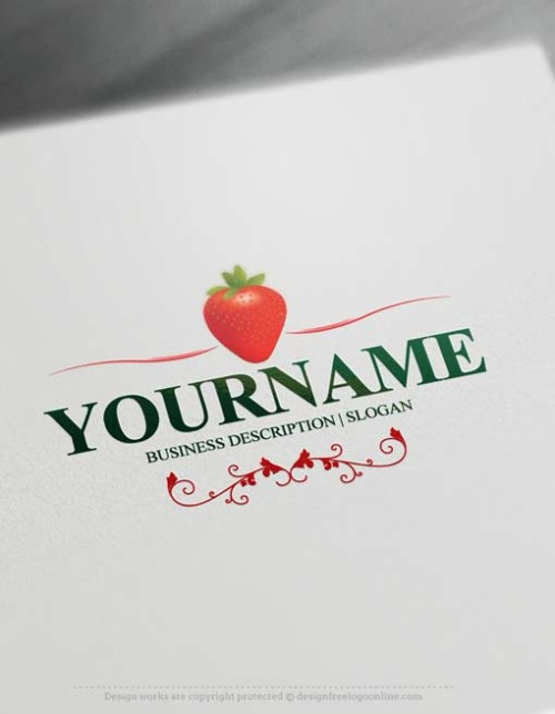 Free Logo Maker Strawberry Logo designs