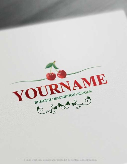 Make Cherries Logo design with our Free Logo Maker