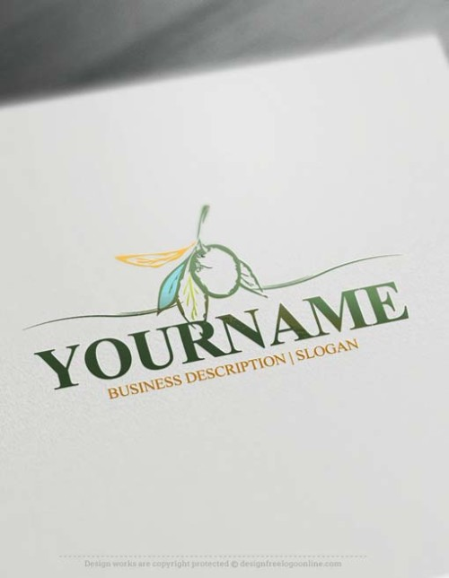 Make an Olive Logo design with our Free Logo Maker