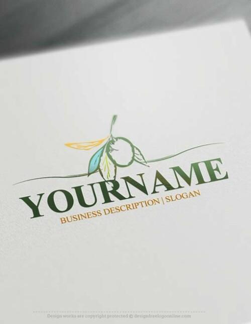 Make an Olive Logo design with our Free Logo Maker