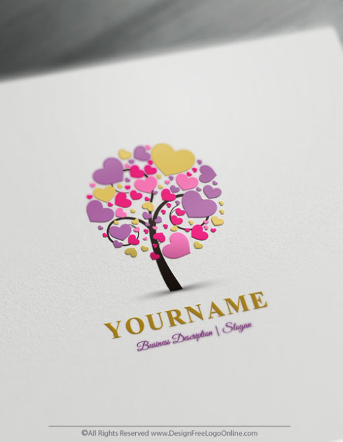 Design your own Hearts tree Logo Online with Free Logo Maker
