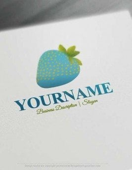 Strawberry-logo-design-free-logo-maker