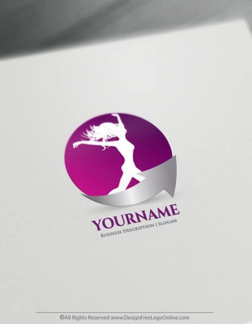 Branding your own health business online never been easier! Instantly use the Woman Fitness template, decorated with woman jumping symbol, to make a logo for free.