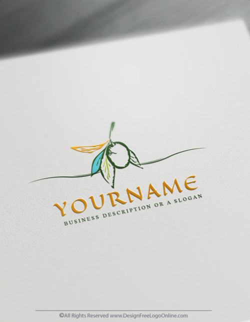 Online Olive Logo design - Free Food Logo Maker
