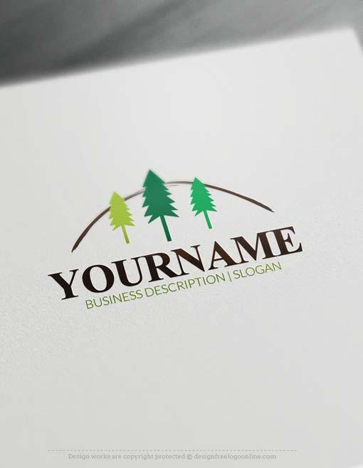 Free Logo Maker Forest tree Logo design