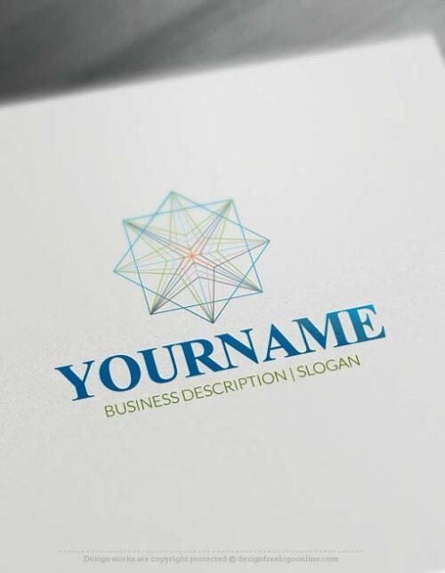 Free Logo Creator - Geometrical Logo design