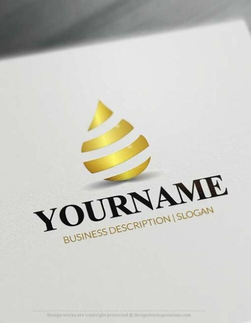 Online Nature Drop Logo Design - Make a Logo with our Free Logo Maker