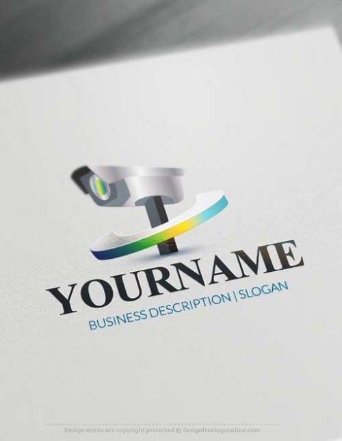 Online 3D cctv camera Logo Design - Make a Logo with our Free Logo Maker