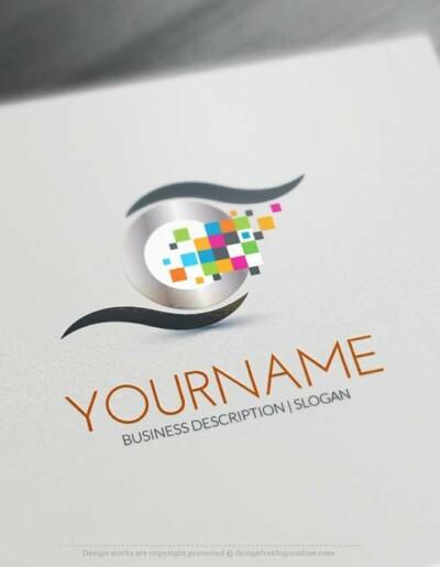 Online Digital Eye Logo Design - Make a Logo with our Free Logo Maker