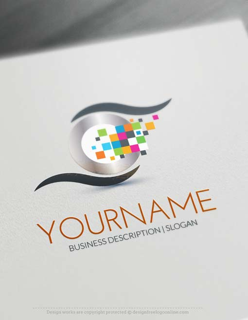Free Logo Maker Digital Eye Logo Design
