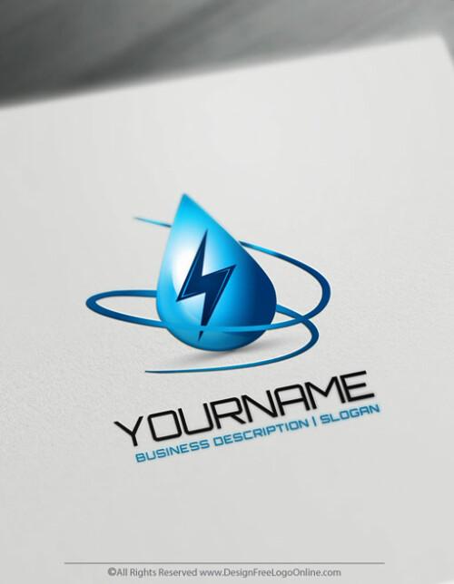 Blue Energy Logo Maker Power Logo Design