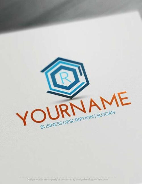 Free Logo Maker Geometric Company Logo