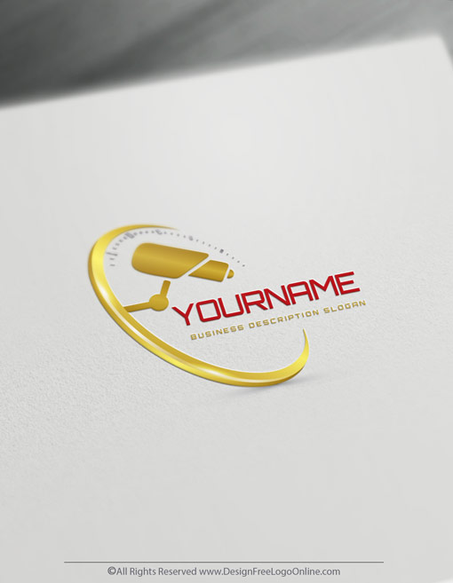 Gold Security Logo Maker with camera