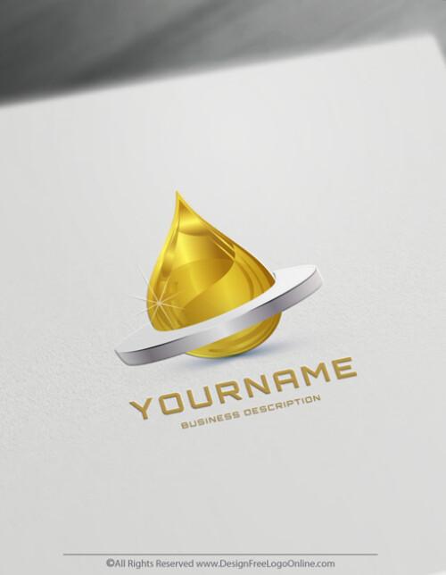 Oil drop logo maker