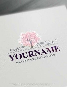 online forest tree logo free logo maker